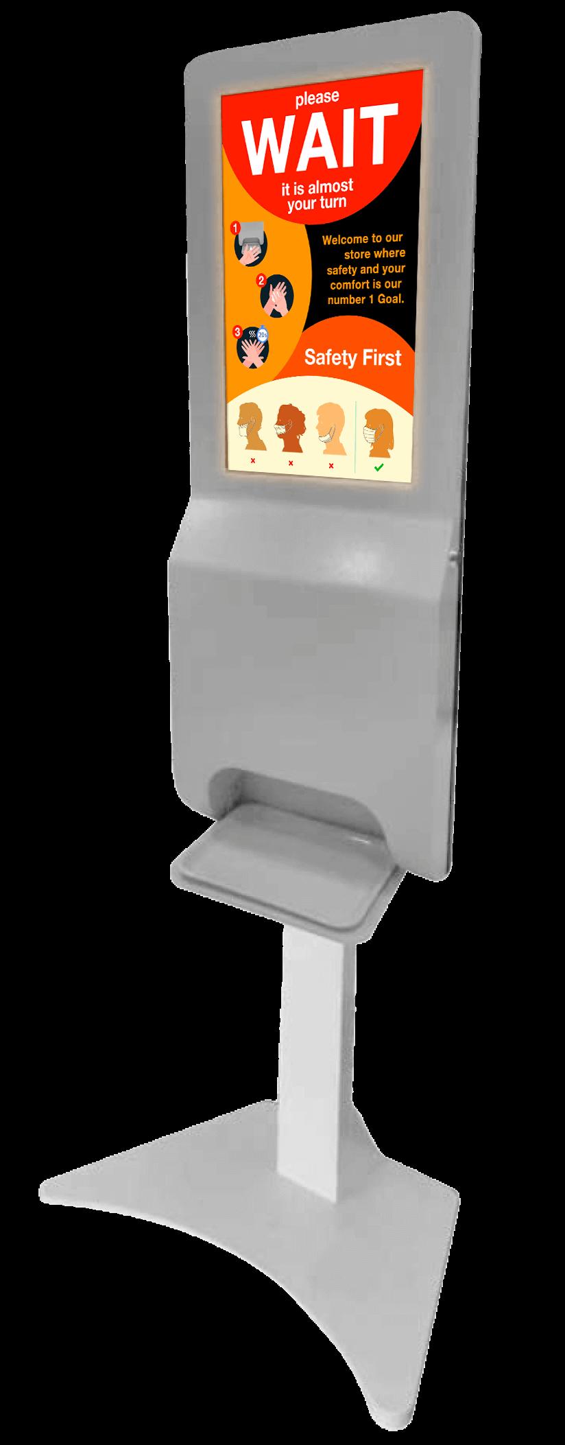 Kiosk stand WAIT